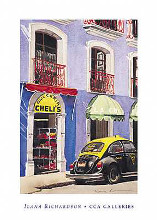 Sweetshop Puebla poster print by Ilana Richardson