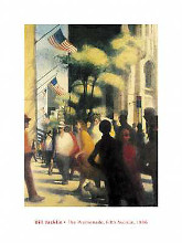 Promenade Fifth Avenue poster print
