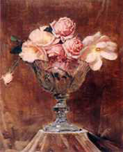 Pink Roses poster print by Arthur Streeton