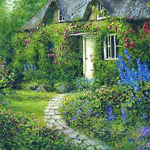 White Door Cottage poster print by Dwayne Warwick