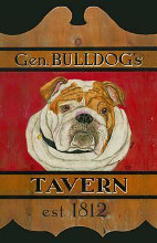 General Bulldog's Tavern poster print by Kari Phillips