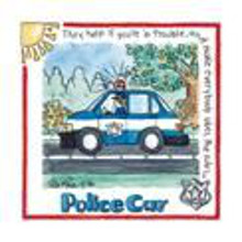 Police Car poster print by Lila Rose Kennedy