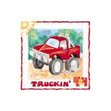 4 X 4 Truckin poster print by Lila Rose Kennedy