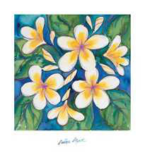 White Frangipani poster print by Annique Azure