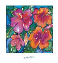 Pink Hibiscus poster print by Annique Azure