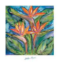 Birds of Paradise poster print by Annique Azure