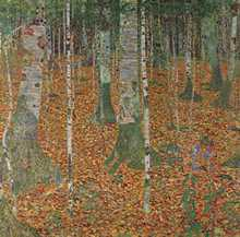 Birch Forest poster print by Gustav Klimt