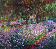 Monet's garden in Giverny poster print by Claude Monet