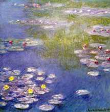 Nympheas at Giverny poster print by Claude Monet