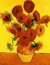 Still Life Vase with Fifteen Sunflowers poster print by Vincent van Gogh