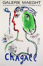 Artist As Phoenix poster print by Marc Chagall