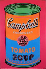 Soup Can Tomato Colored-Large poster print by Andy Warhol