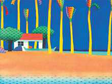 Canoe House Beach Point poster print by  Tremewen
