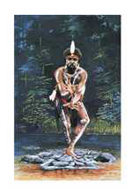 Tjapukai Dancer poster print by Kathryn Gale