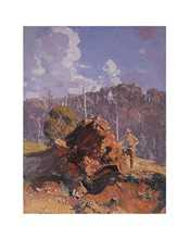 Digger and His Log poster print by Arthur Streeton
