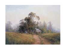 Morning Near Daylesford poster print by Chris Kandis
