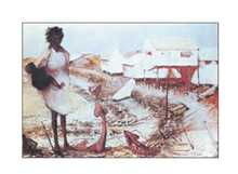 Seafront Broome poster print