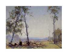 Morning in the Clearing poster print by Elioth Gruner