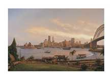 Sydney At Dusk poster print by Joseph Frost