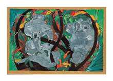 Koala Capers poster print by Priscilla Wright
