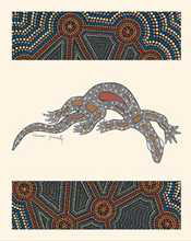 Goanna poster print by  Donnelly