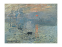 Impression: Sunrise, 1872 poster print by Claude Monet