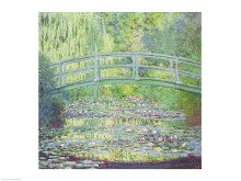 The Waterlily Pond with the Japanese Bridge, 1899 poster print by Claude Monet