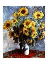 Still life with Sunflowers, 1880 poster print by Claude Monet