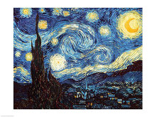 The Starry Night, June 1889 poster print by Vincent van Gogh