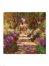 A Pathway in Monet's Garden, Giverny, 1902 poster print by Claude Monet