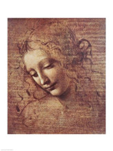 Head of a Young Woman with Tousled Hair poster print by Leonardo da Vinci