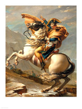 Napoleon (1769-1821) Crossing the Alps at the St Bernard Pass poster print by Jacques-Louis David