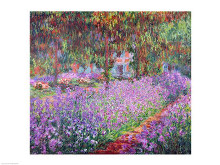 The Artist's Garden at Giverny, 1900 poster print by Claude Monet