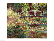 Waterlily Pond: Pink Harmony, 1900 poster print by Claude Monet