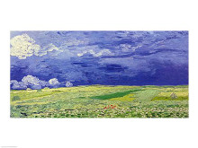 Wheatfields under Thunderclouds, 1890 poster print by Vincent van Gogh