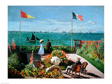 The Terrace at Sainte-Adresse, 1867 poster print by Claude Monet