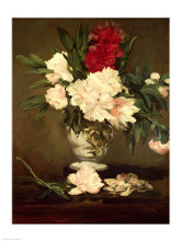 Vase of Peonies on a Small Pedestal, 186... poster print