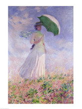 Woman with a Parasol turned to the Right, 1886 poster print by Claude Monet