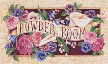 Powder Room poster print by Karen Avery