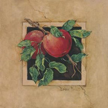 Apple Square poster print by Barbara Mock