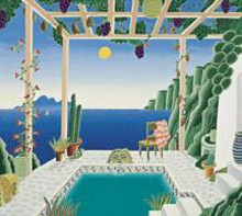 Aegean Garden poster print by Thomas Mcknight
