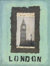 London poster print by Jan Weiss