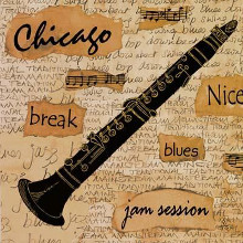 Chicago Sound poster print by Anji Allen