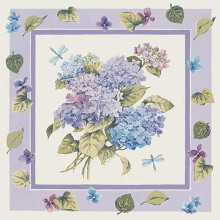 Mixed Color Hydrangeas poster print by Karen Avery
