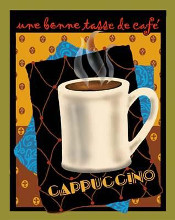 Cappuccino poster print by Betty Whiteaker