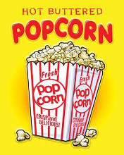 Hot Buttered Popcorn poster print by Mike Patrick