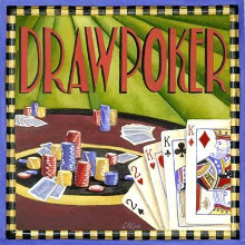 Draw Poker poster print by Geoff Allen