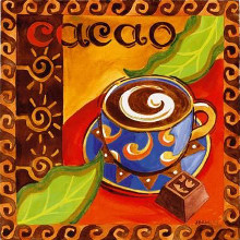 Cacao Chocolate poster print by Jennifer Brinley