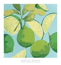 Fresh Limes poster print by Martha Negley