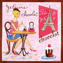 French Chocolate poster print by Jennifer Brinley